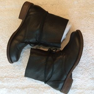 Lucky Brand Ripley Black Leather Ankle Boots